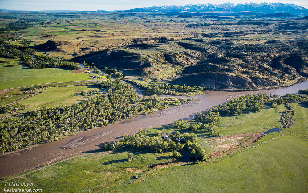 Aerial view of the Yellowstone Preserve ranch